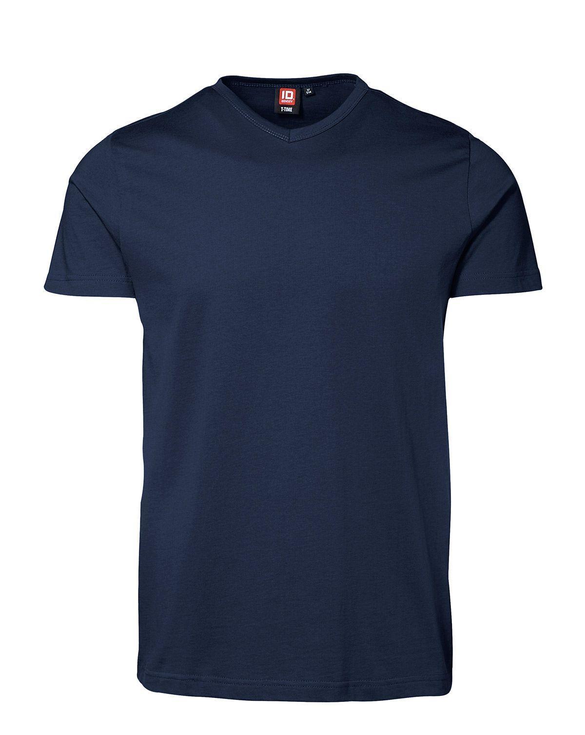 ID V-hals T-shirt (Navy, 2XL)