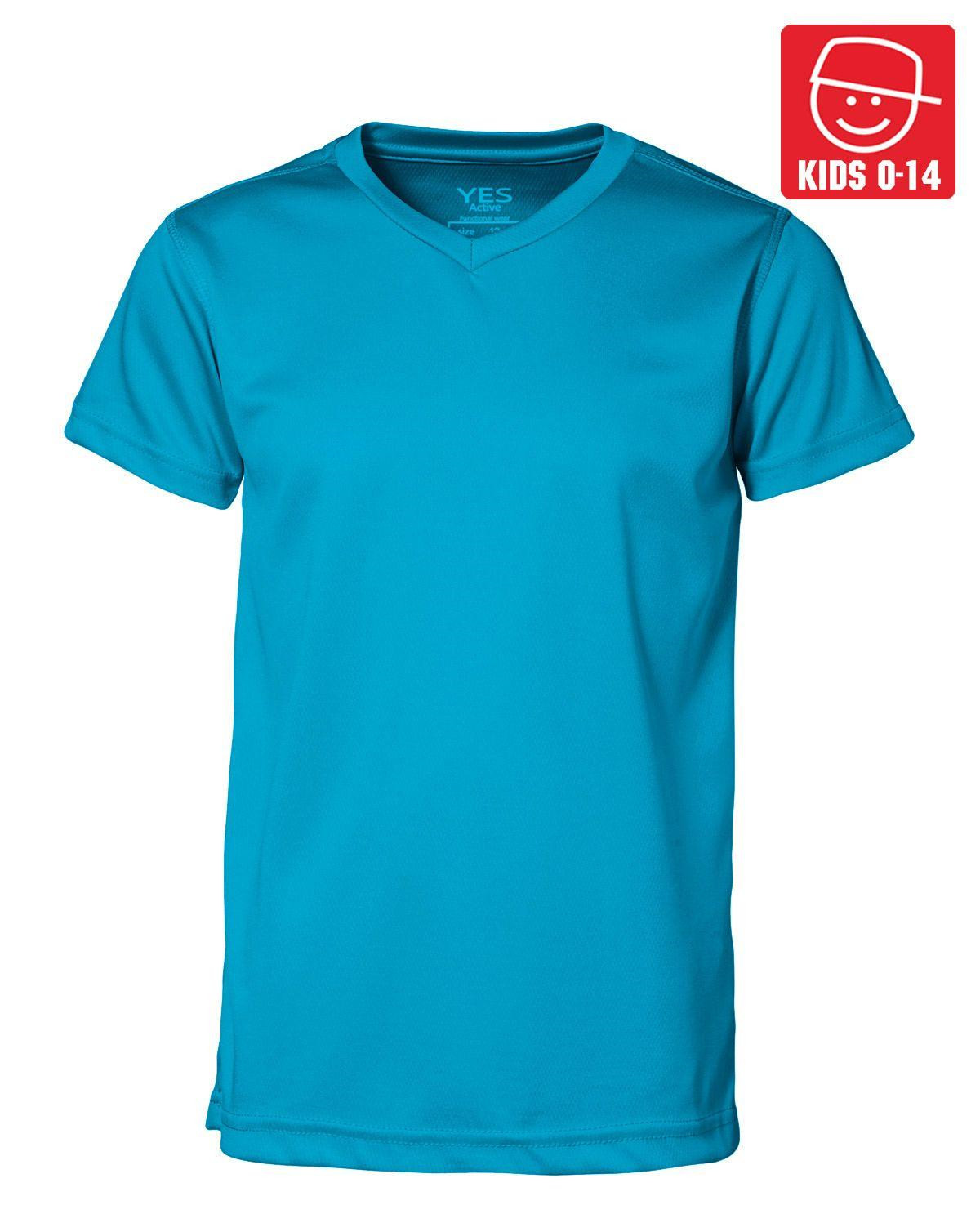 Image of   ID YES Svedtransporterende T-shirt til Børn (Cyan, 128)