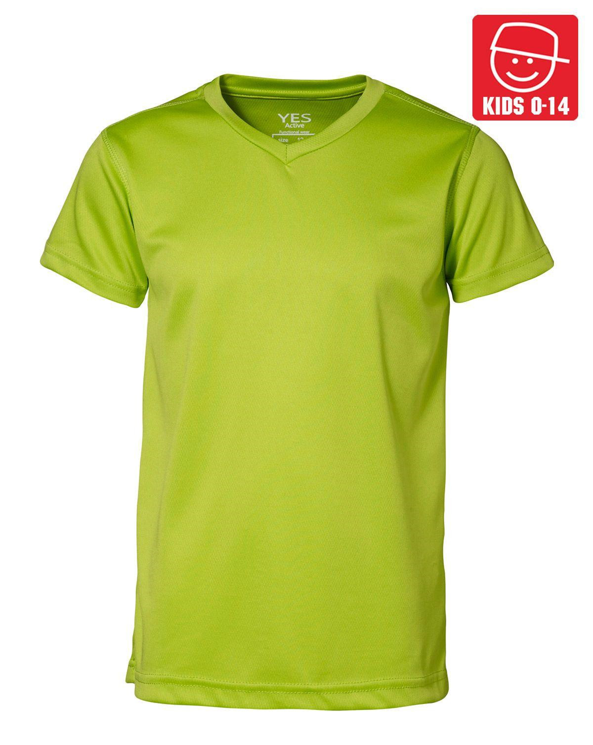 Image of   ID YES Svedtransporterende T-shirt til Børn (Lime, 128)