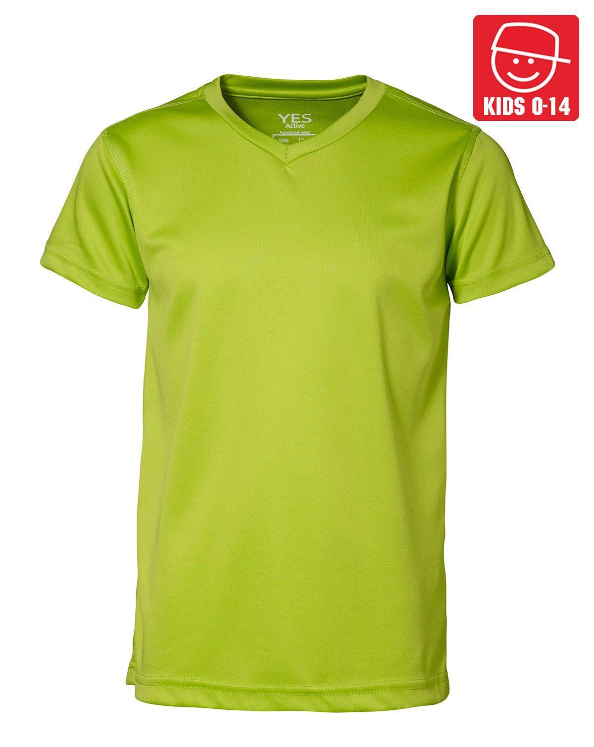 Image of   ID YES Svedtransporterende T-shirt til Børn (Lime, 128)