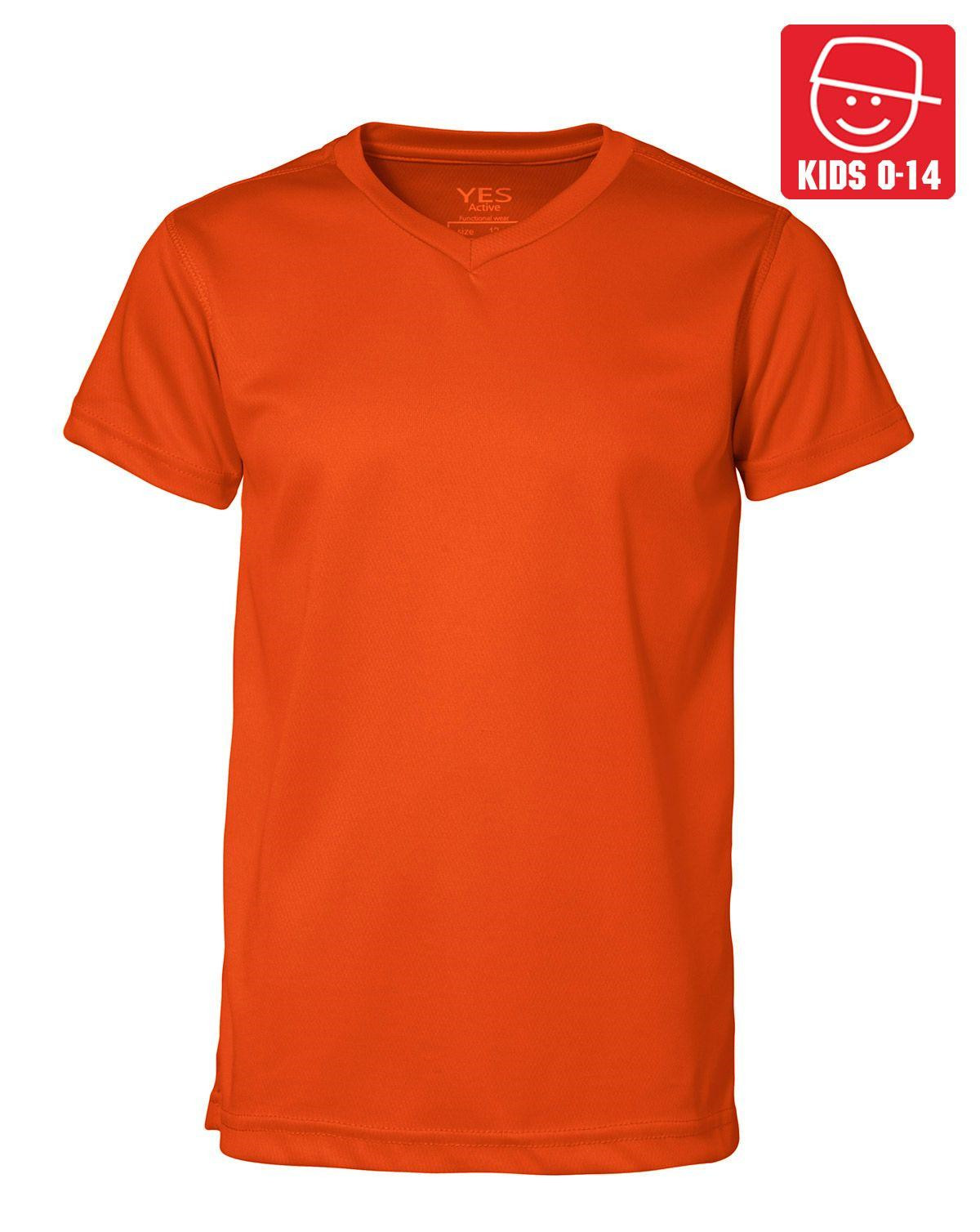 Image of   ID YES Svedtransporterende T-shirt til Børn (Orange, 128)