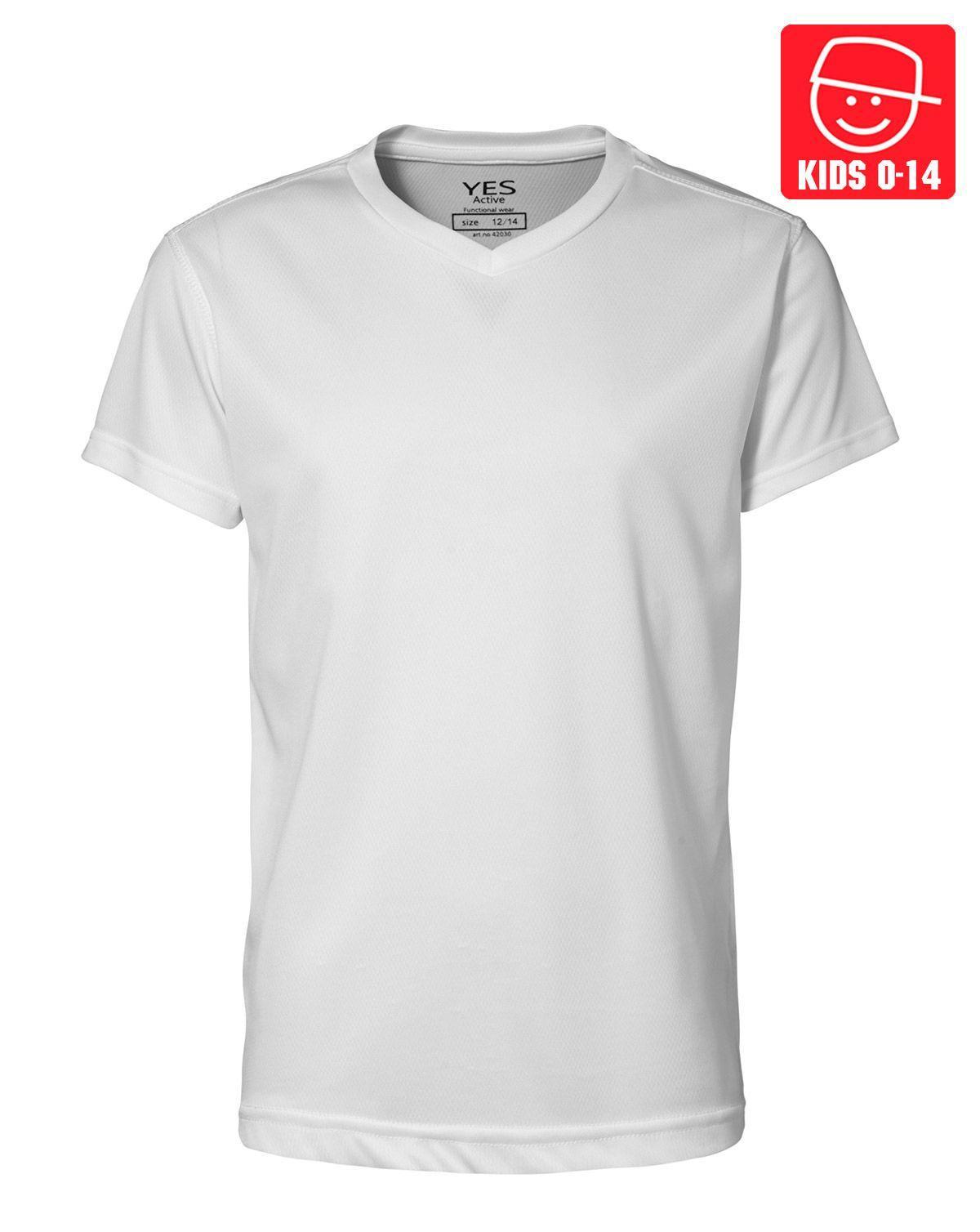 Image of   ID YES Svedtransporterende T-shirt til Børn (Hvid, 128)