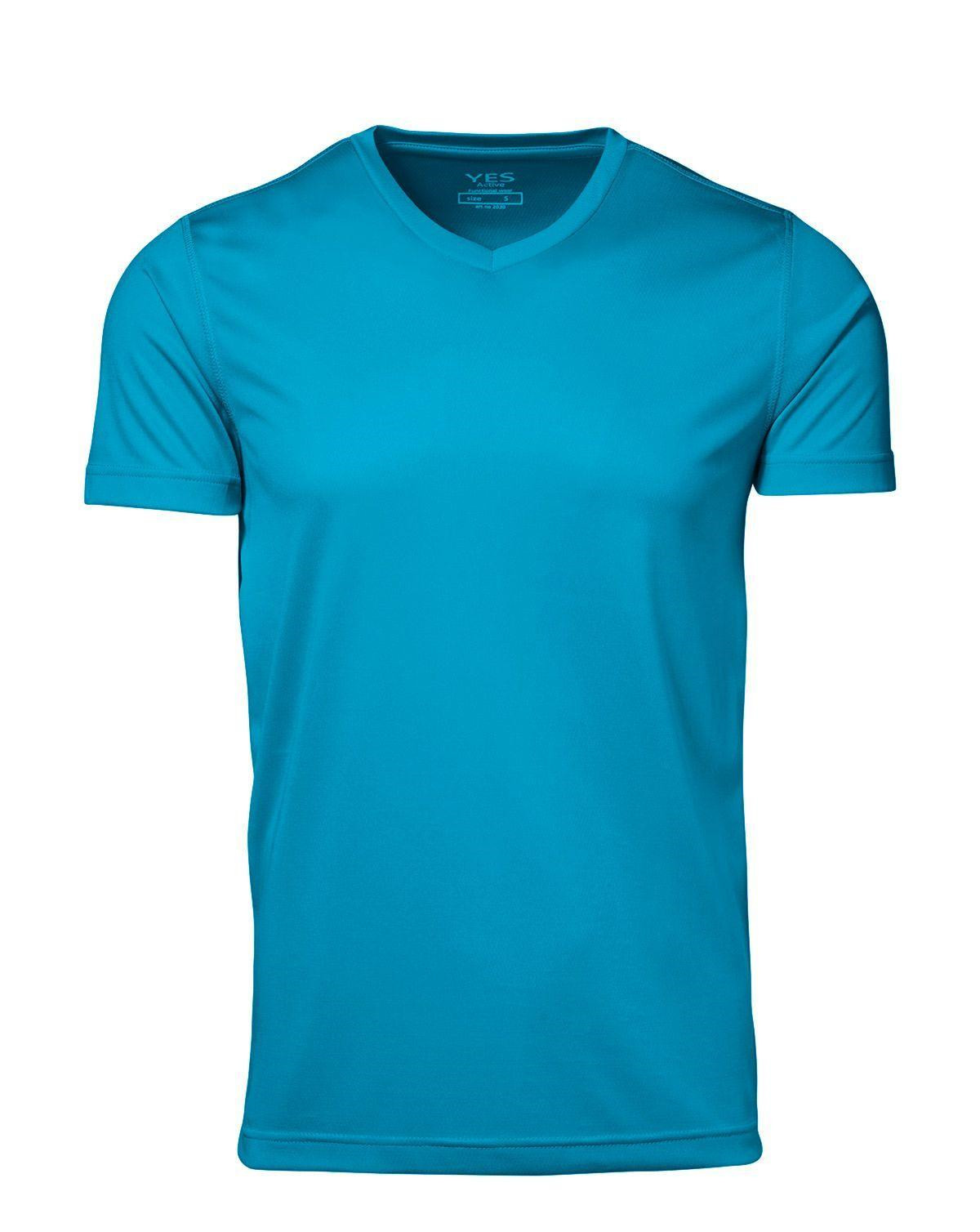 ID YES Svedtransporterende T-shirt (Cyan, 2XL)