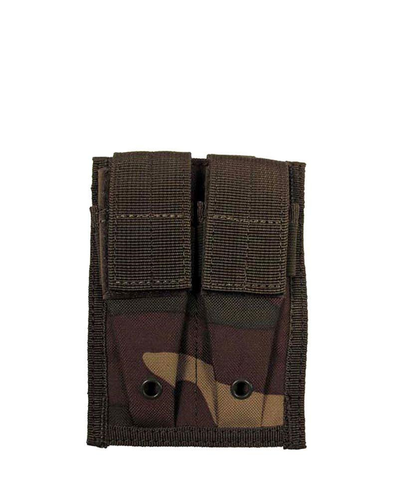 Image of   MFH Double Pouch (Woodland, One Size)