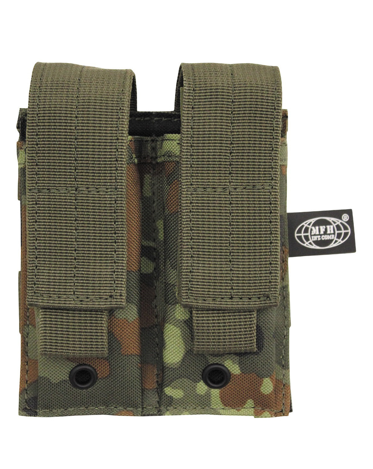 Image of   MFH Double Pouch (BW Flecktarn Camo, One Size)