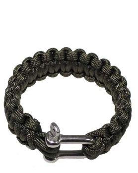 Image of   MFH Paracord Armbånd m. Lås (Oliven, S / 18 cm)