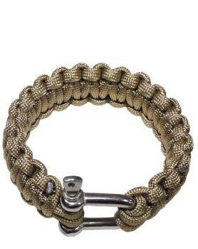 Image of   MFH Paracord Armbånd m. Lås (Coyote Brun, S / 18 cm)