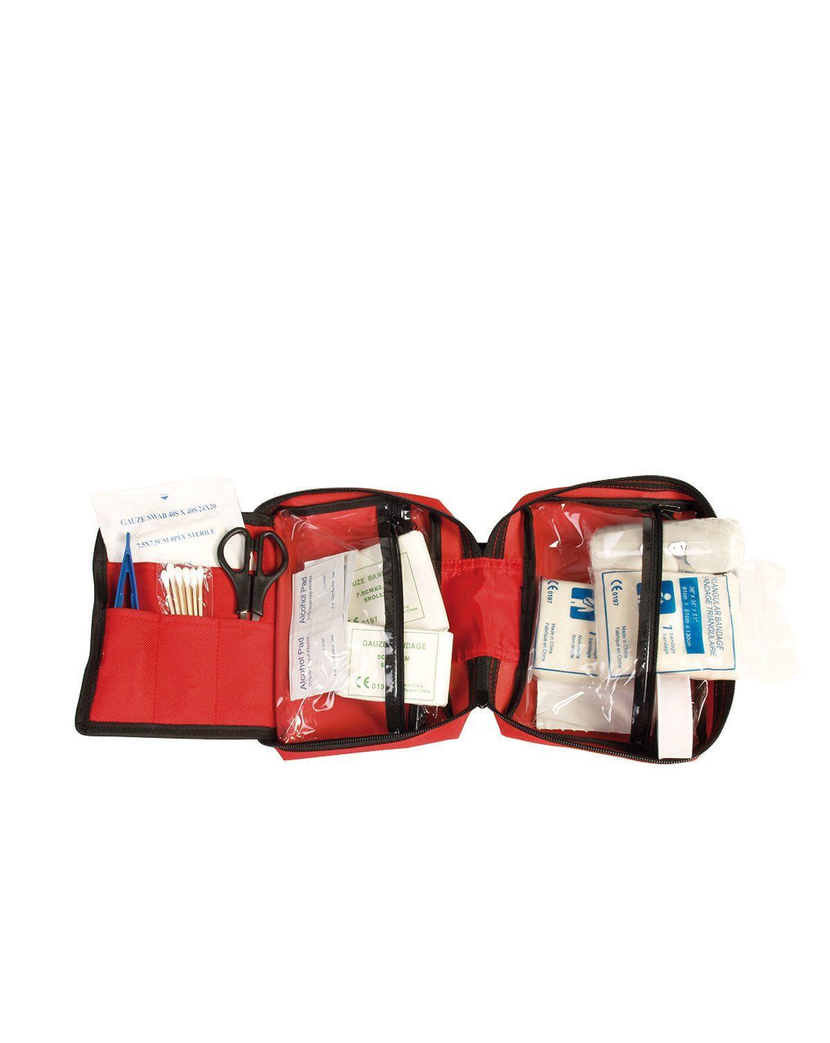 Image of   Mil-Tec Førstehjælpssæt, Stort (Rød, One Size)