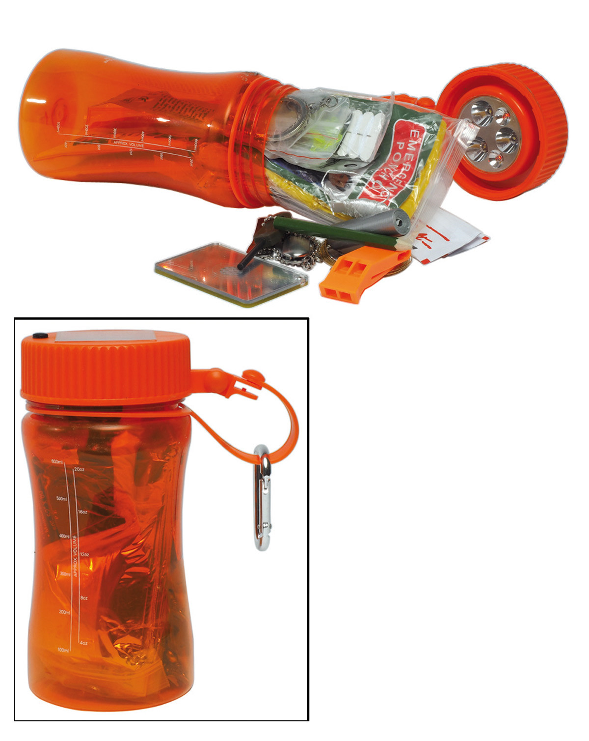 Image of   Mil-Tec Outdoor Survival Bottle (Orange, One Size)