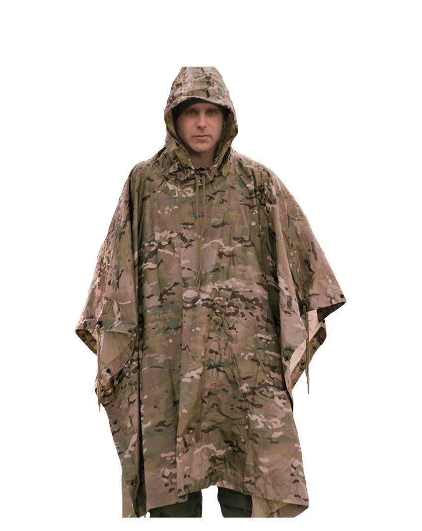 Image of   Mil-Tec Ripstop Poncho (Multi Camo, One Size)