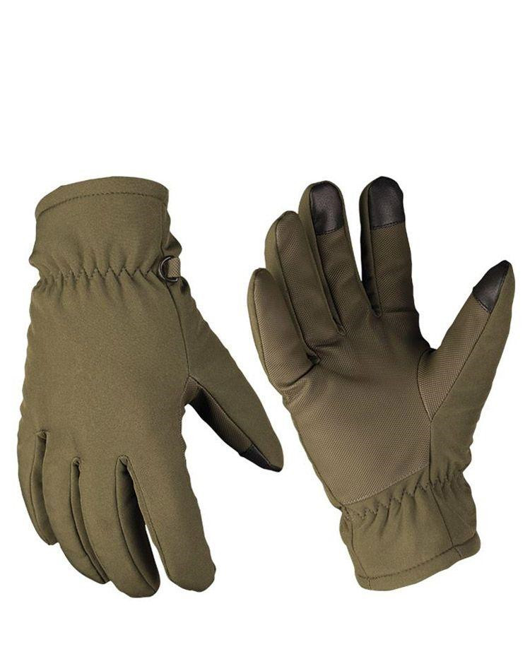 Image of   Mil-Tec Softshell handsker med Thinsulate (Oliven, S)