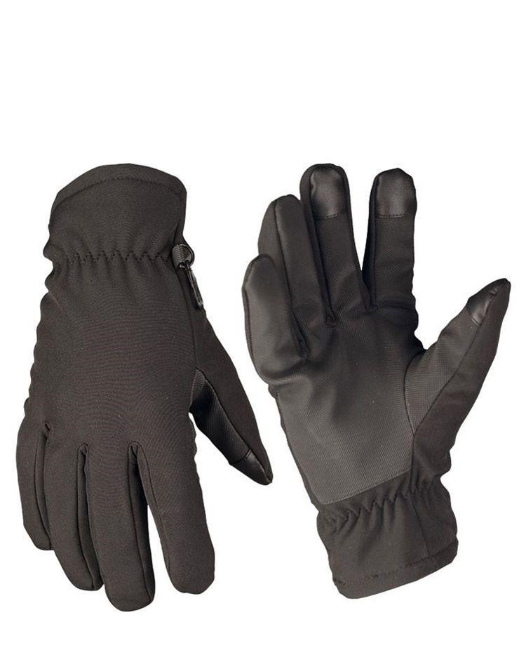 Image of   Mil-Tec Softshell handsker med Thinsulate (Sort, M)