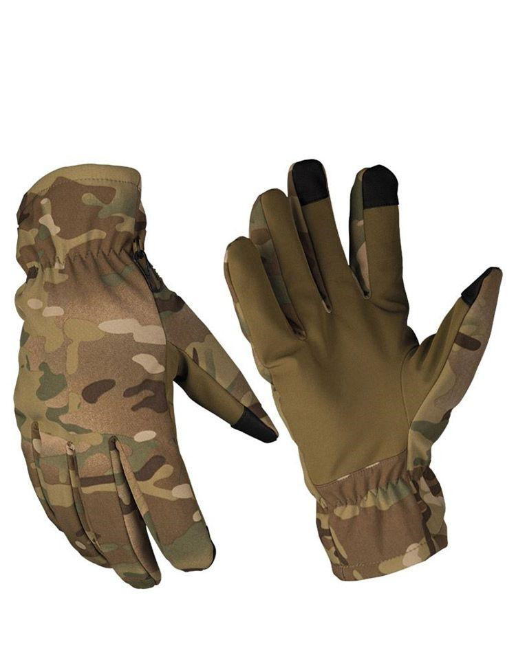 Image of   Mil-Tec Softshell handsker med Thinsulate (Multi Camo, S)