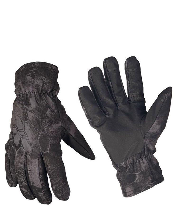 Image of   Mil-Tec Softshell handsker med Thinsulate (Mandra Night camo, 2XL)
