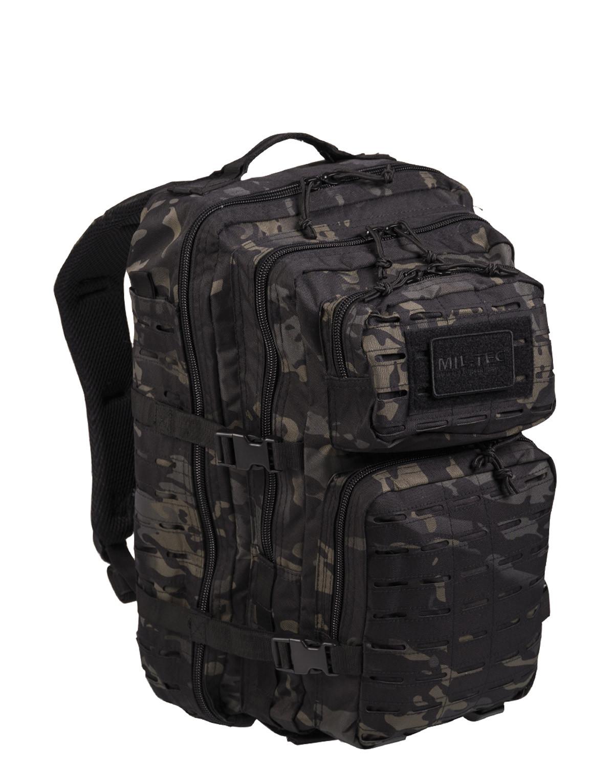 Mil-Tec US Assault Lasercut Ryggsäck m. Molle-system - Large (Dark Camo, One Size)