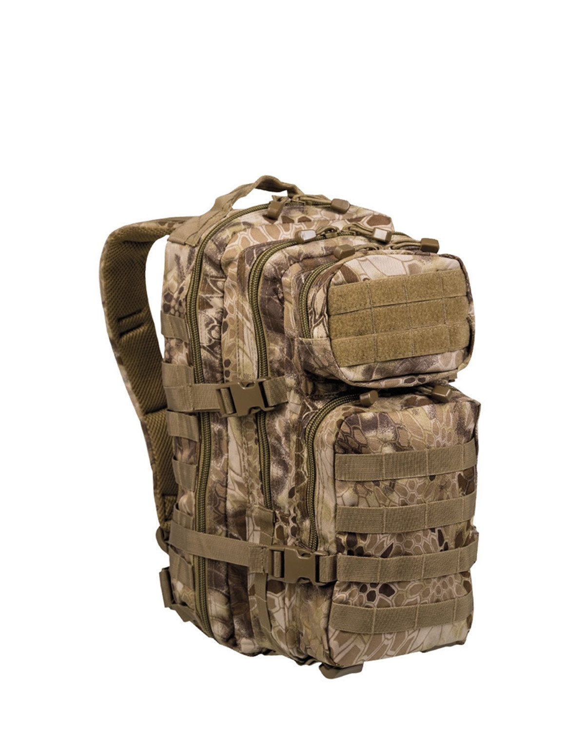 Image of   Mil-Tec U.S. Assault Rygsæk - 20 liter (Mandra Tan camo, One Size)