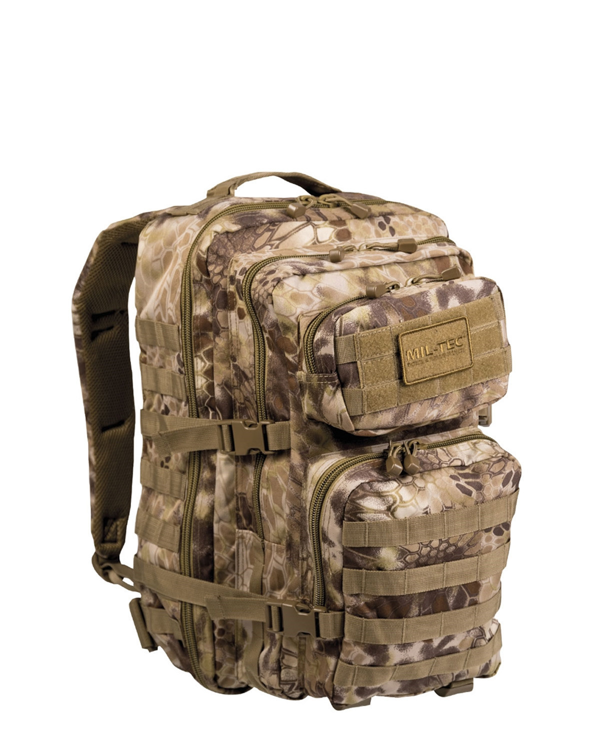 Image of   Mil-Tec U.S. Assault Rygsæk - 40 liter (Mandra Tan camo, One Size)