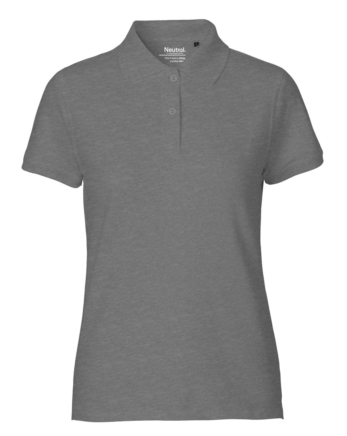 Neutral Ekologisk Dam Klassisk Polotröja (Dark Grey, L)