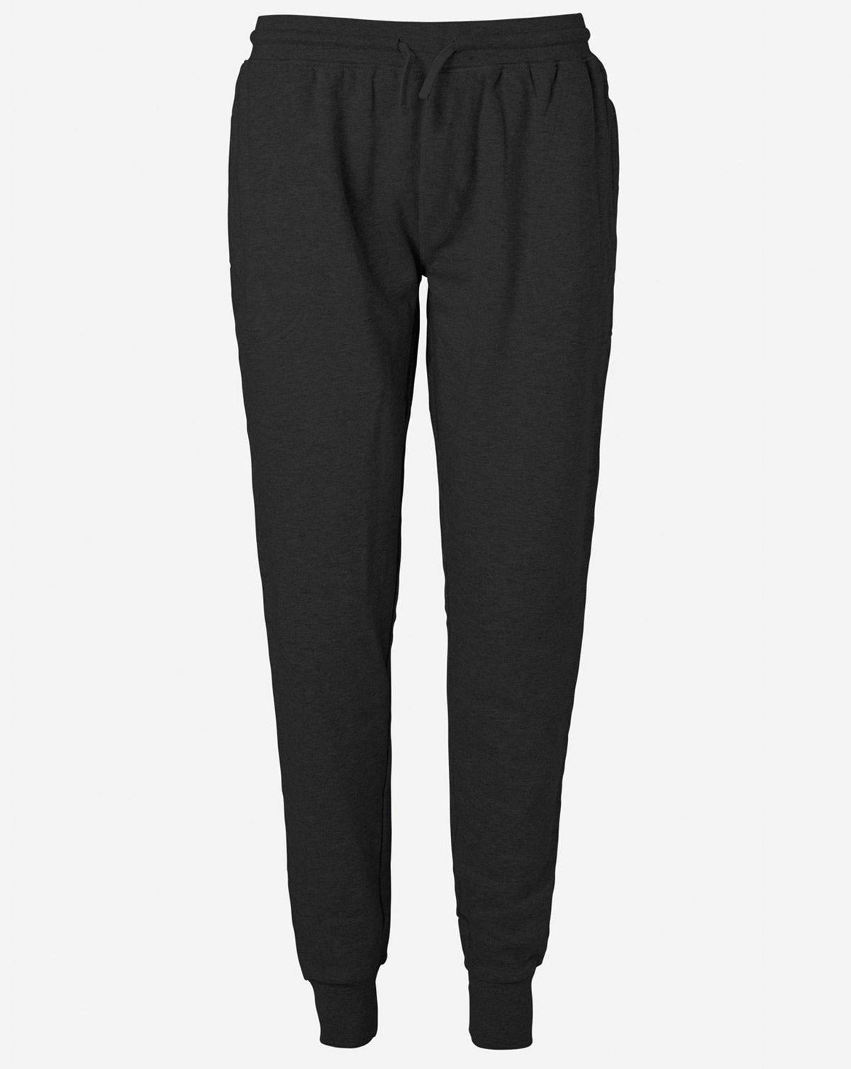 Image of   Neutral Økologisk Unisex Sweatpants w/ Cuff and Zip (Sort, 2XL)