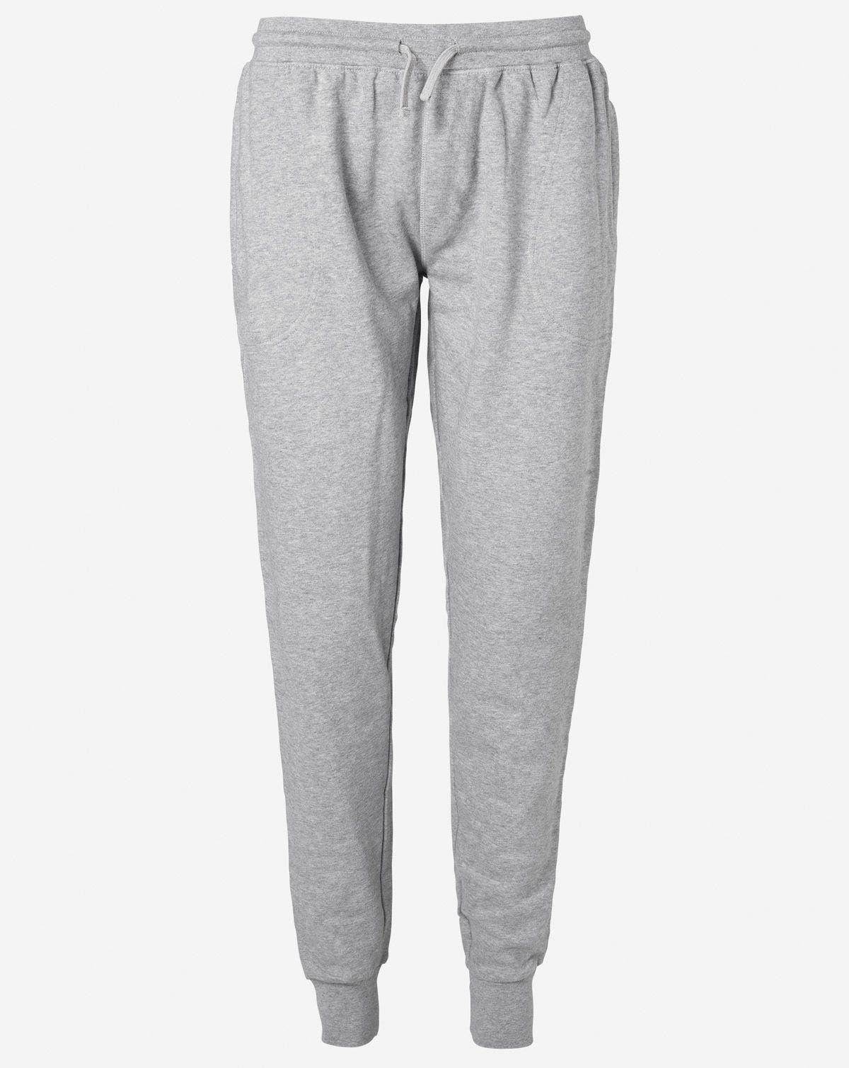 Image of   Neutral Økologisk Unisex Sweatpants w/ Cuff and Zip (Grå Meleret, 2XL)