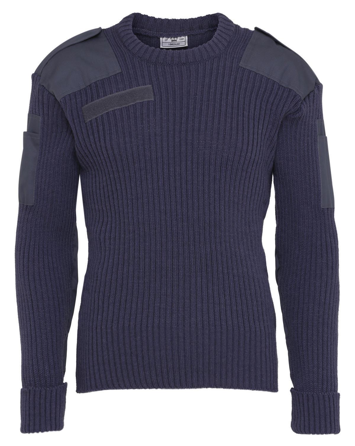 Billede af Original Uldsweater fra Civilforsvaret (Air Force Blå, S)
