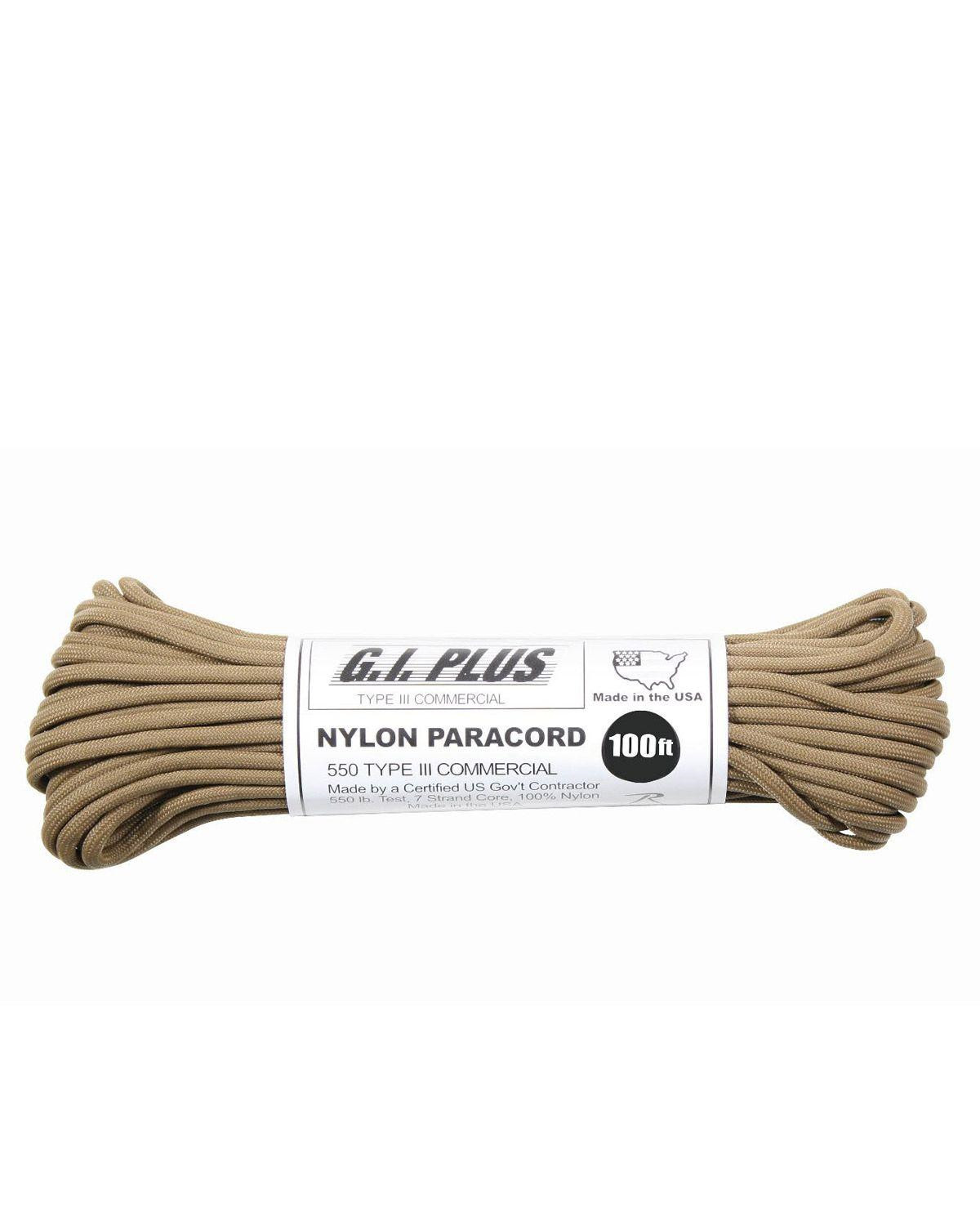 Image of   Paracord, Nylon 30m (Coyote Brun, One Size)