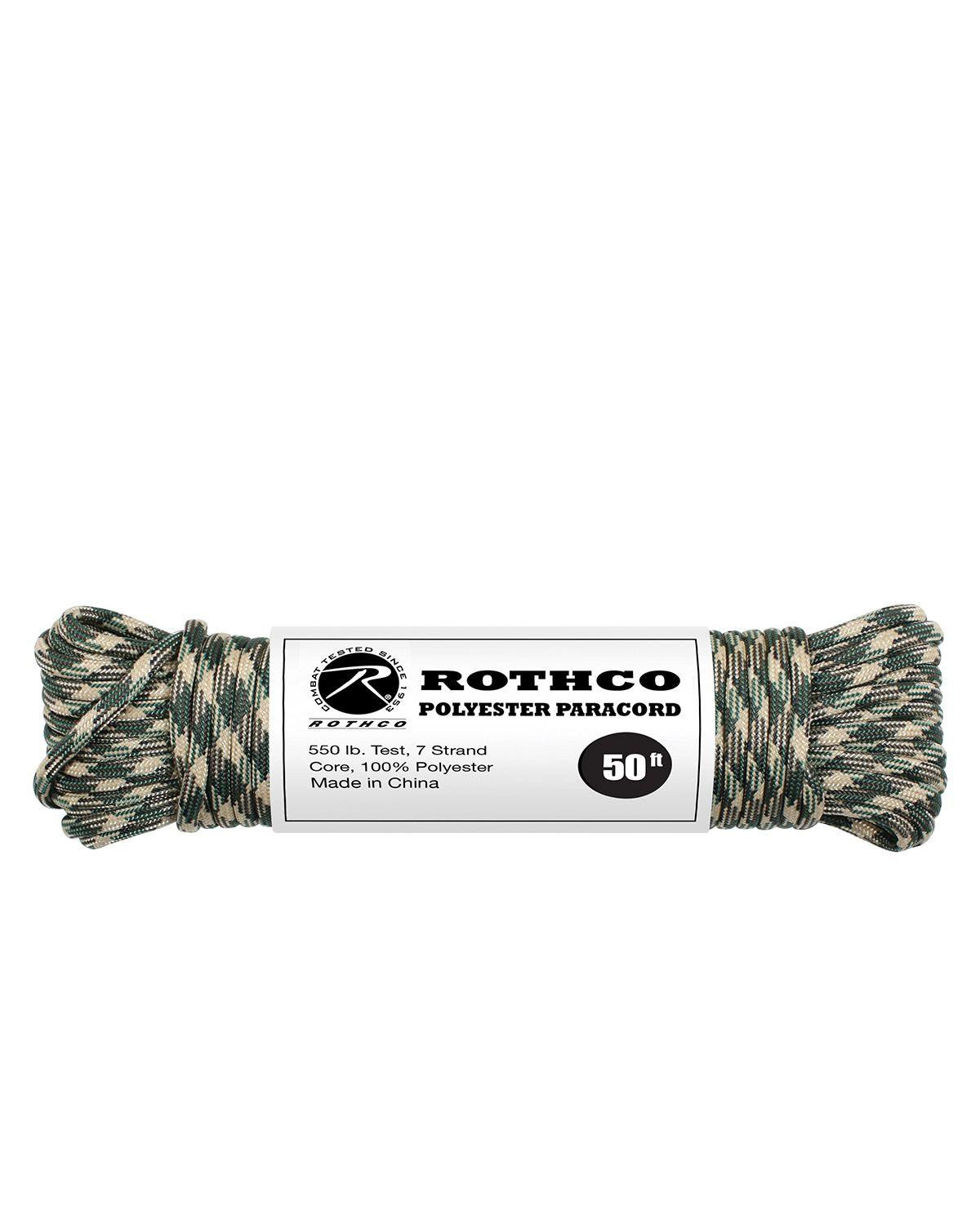 Image of   Paracord, Polyester 15m (Woodland, One Size)