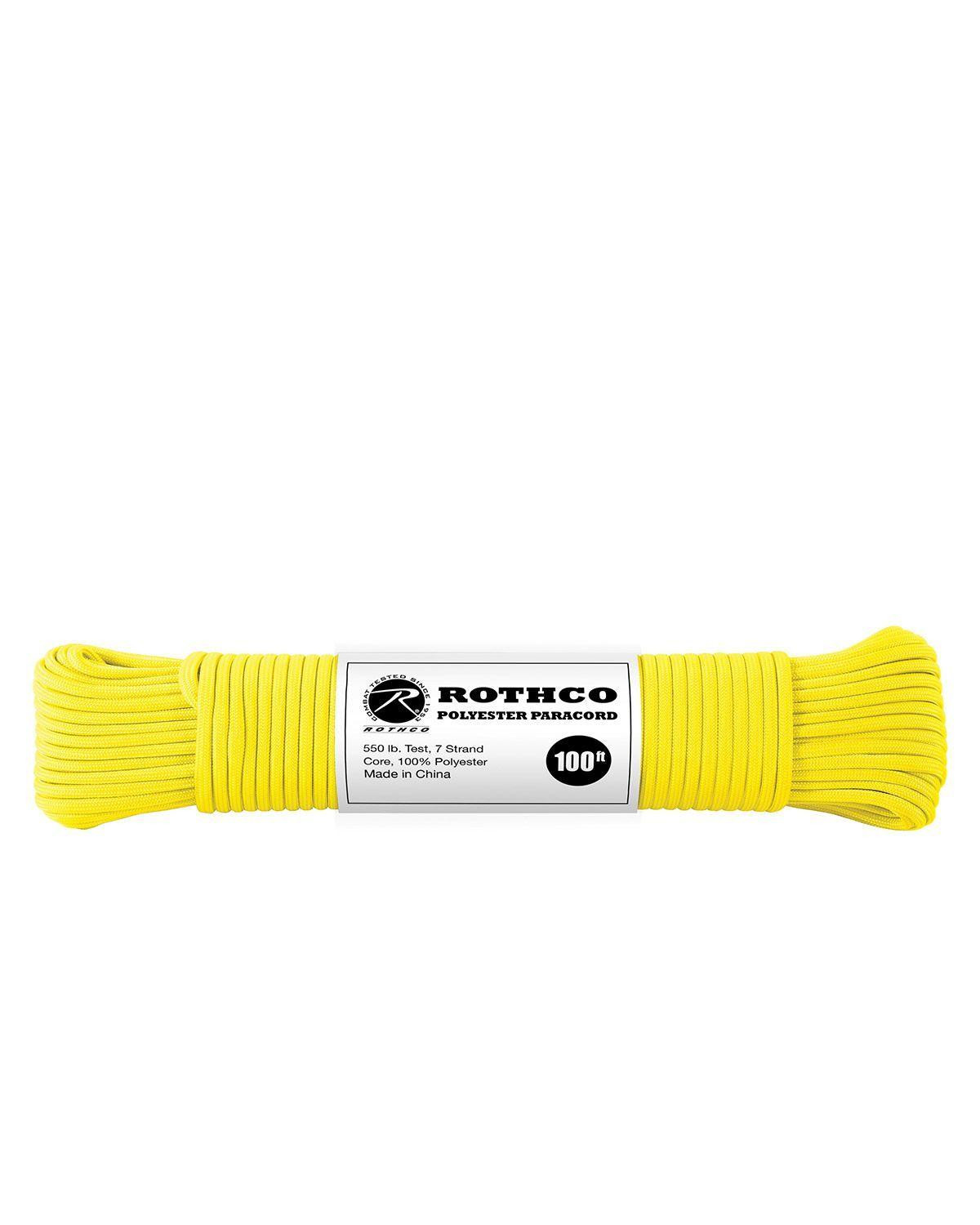 Image of   Paracord, Polyester 30m (Safety Yellow, One Size)