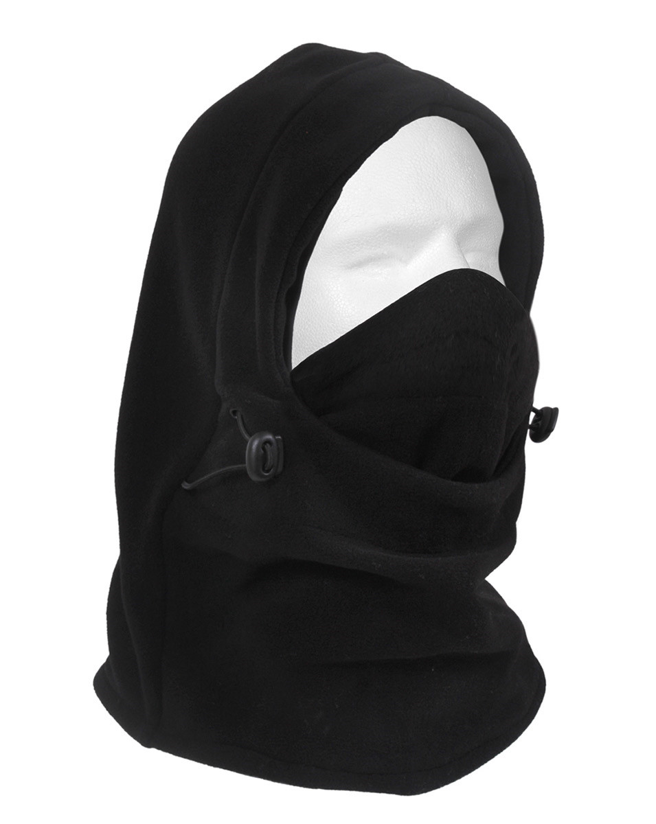 Image of   Rothco 3-i-1 Justerbar Dobbeltlags Fleece Balaclava (Sort, One Size)