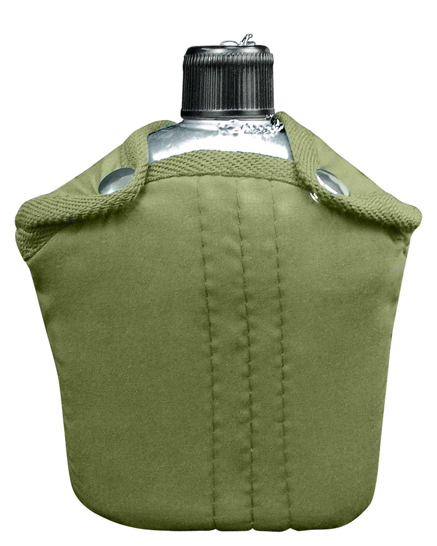 Image of   Rothco Aluminium Drikkedunk m. Etui (Oliven, One Size)