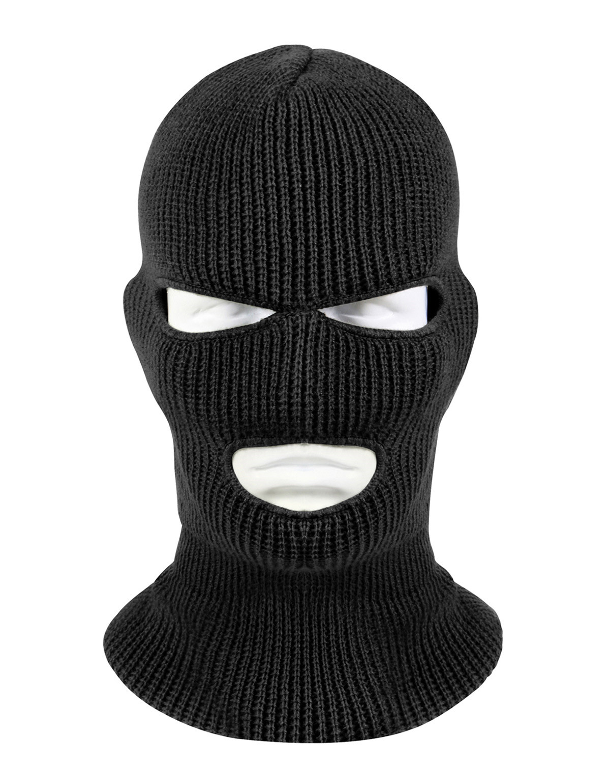 Image of   Rothco Ansigtsmaske - 3-hul (Sort, One Size)