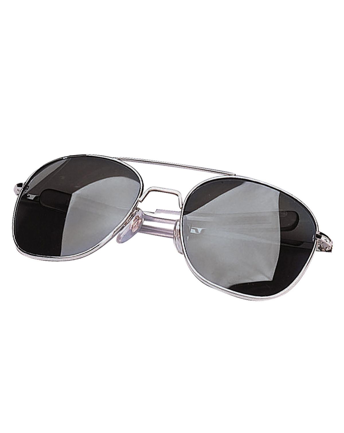Image of   Rothco Aviator Solbriller (Krom m. Røget Glas, One Size)