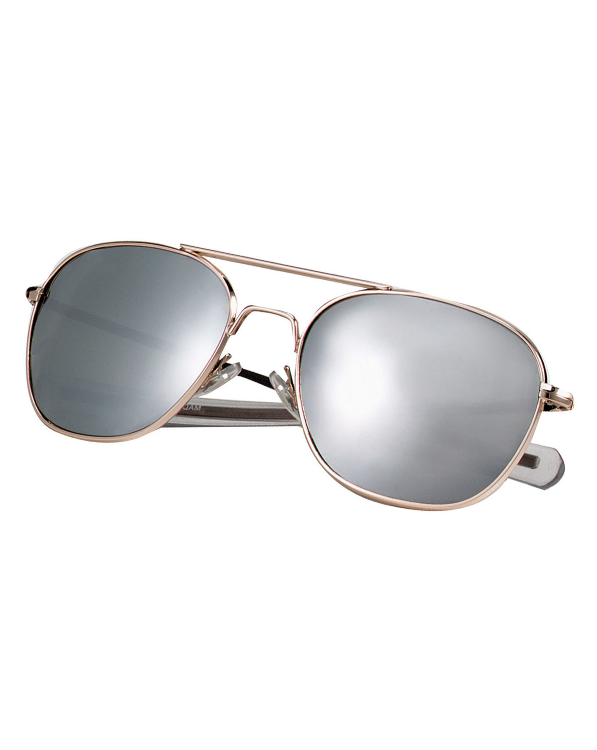 Image of   Rothco Aviator Solbriller (Guld m. Spejl, One Size)