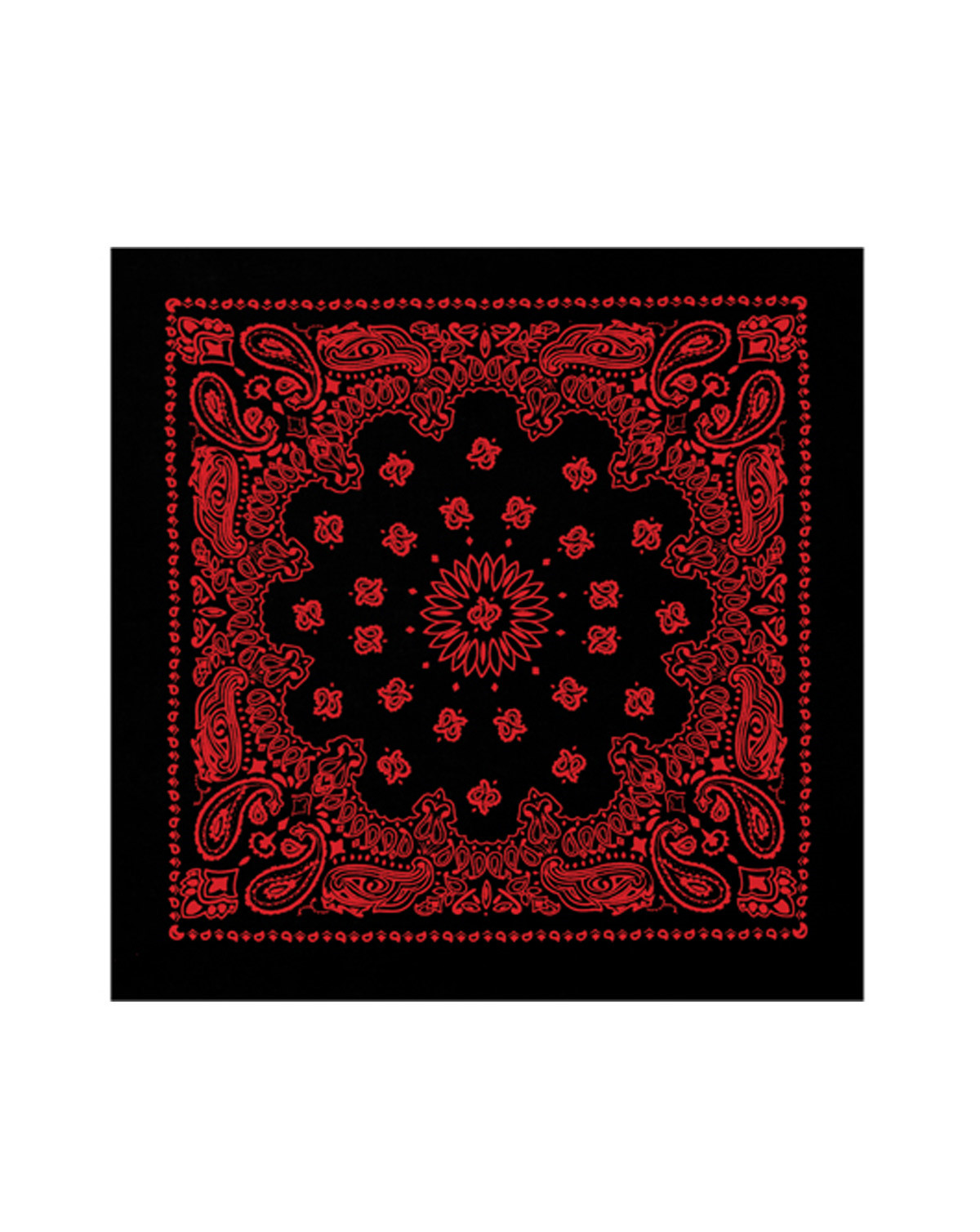 Image of   Rothco Bandana 4 (Sort / Rød, One Size)