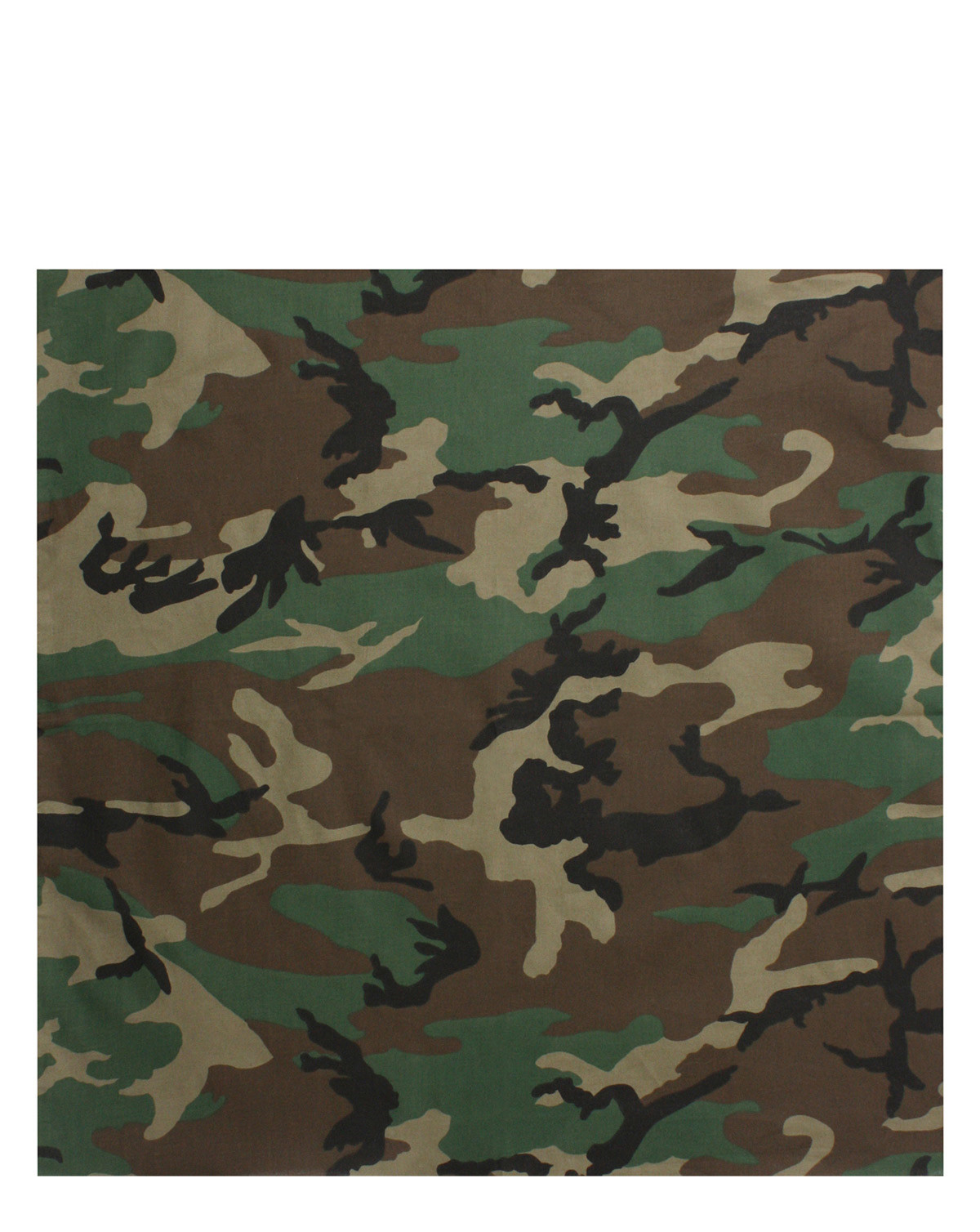 Image of   Rothco Bandana 5 (Woodland, One Size)