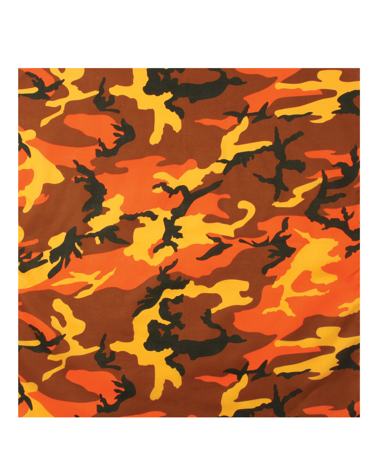 Image of   Rothco Bandana 5 (Orange Camo, One Size)