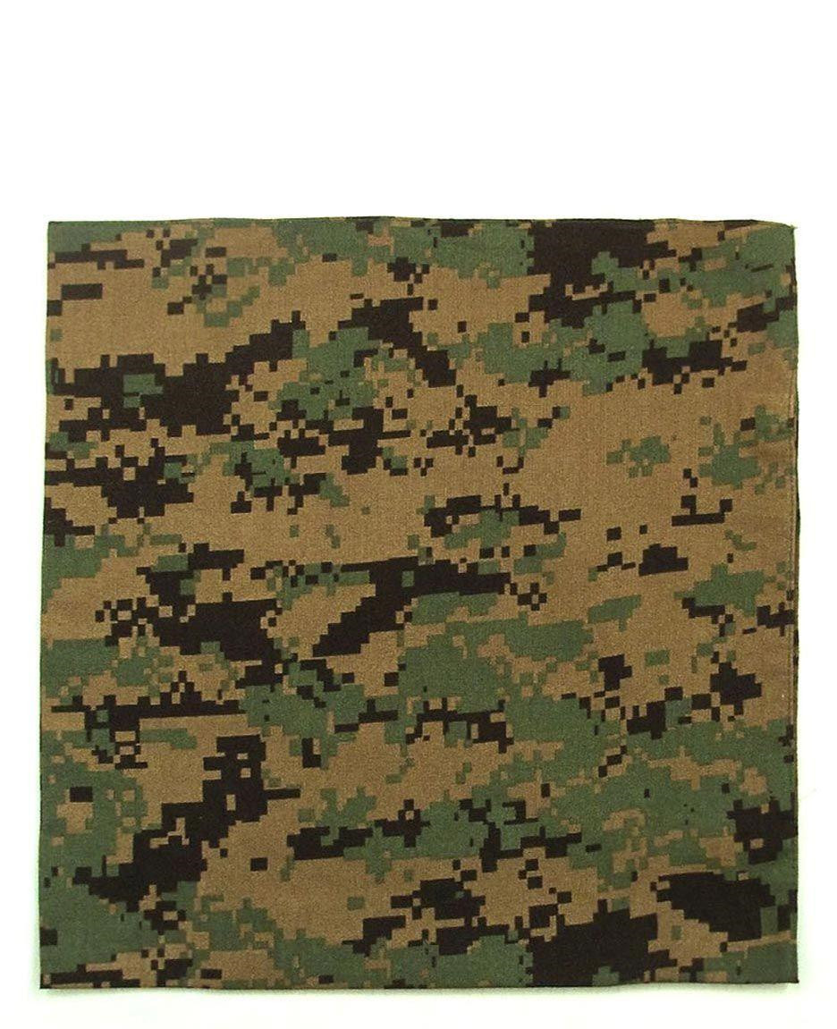 Image of   Rothco Bandana 6 (Digital Woodland, One Size)