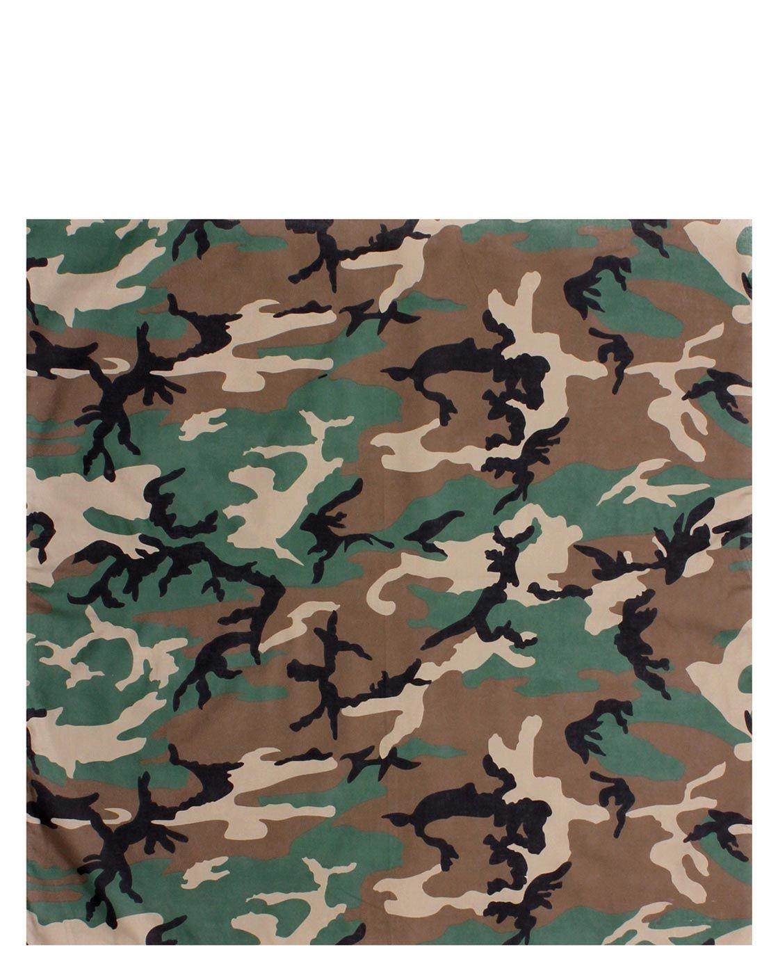 Image of   Rothco Bandana 6 (Woodland, One Size)