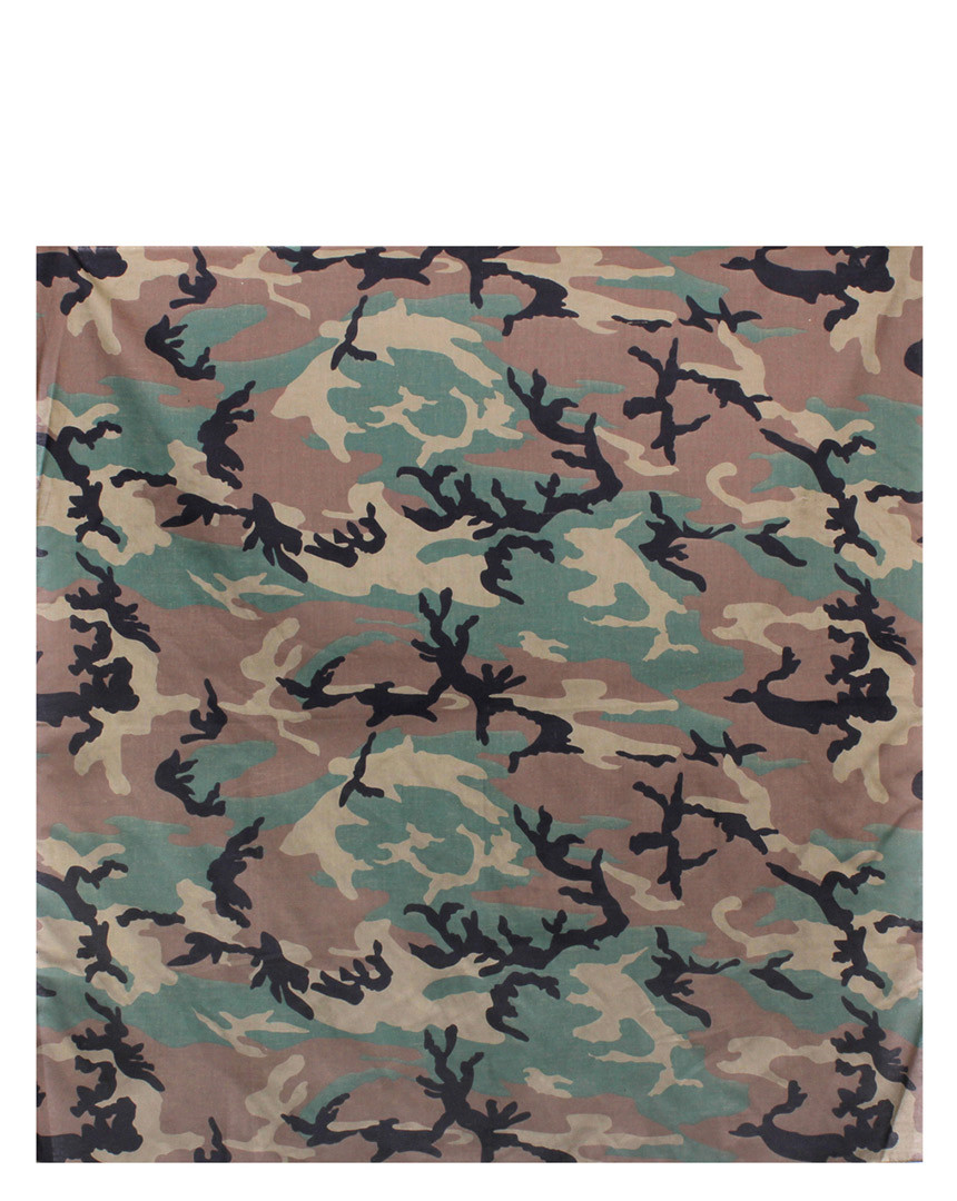 Image of   Rothco Bandana - 89x89 cm (Woodland, One Size)