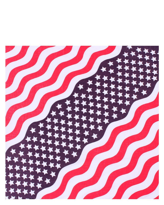 Image of   Rothco Bandana - 'Stars & Stripes' (Rød / Hvid / Blå, One Size)