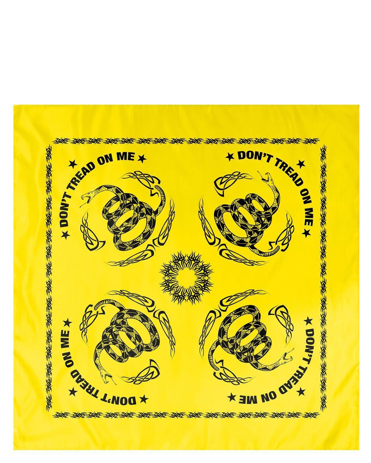 Image of   Rothco Bandana - 'Tread On Me' (Gul / Sort, One Size)