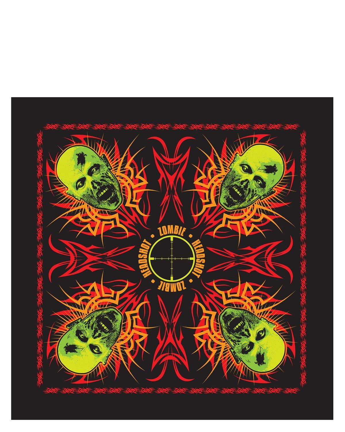 Image of   Rothco Bandana - 'Zombie' (Sort, One Size)
