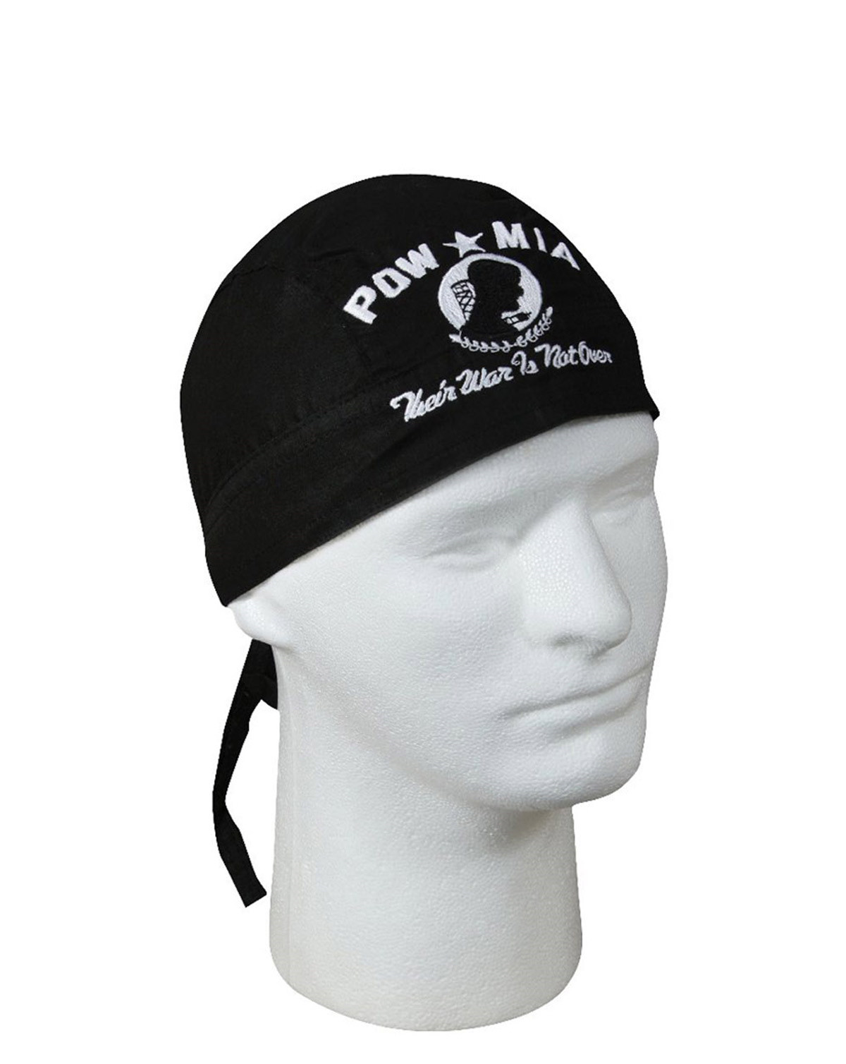 Image of   Rothco Bandana (Black w. POW/MIA, One Size)