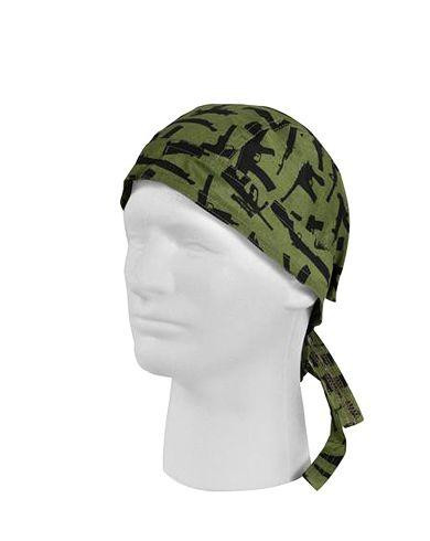 Image of   Rothco Bandana (Oliven m. Guns, One Size)