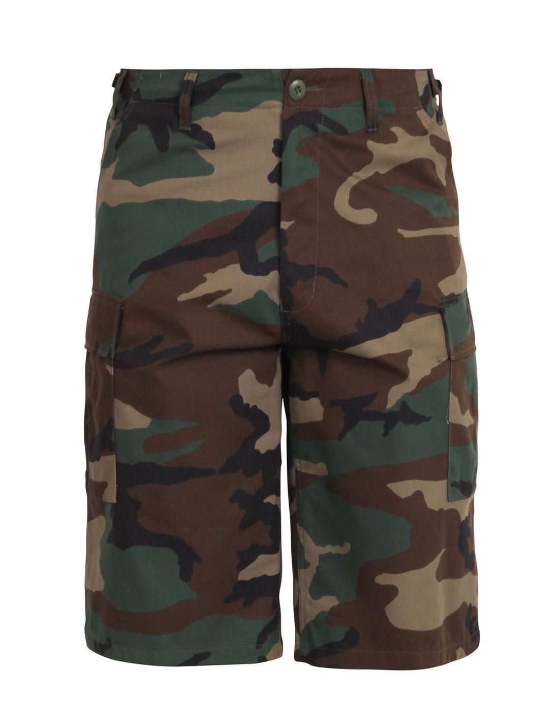 rothco rothco bdu shorts med længde (woodland, m)