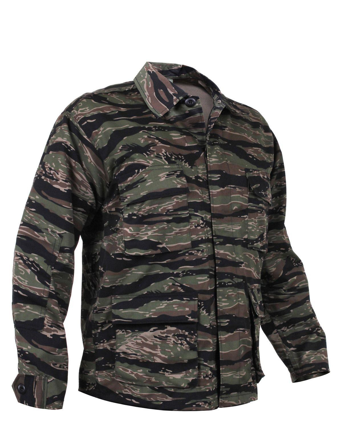 Image of   Rothco BDU Skjorte (Tiger Stribet, XL)