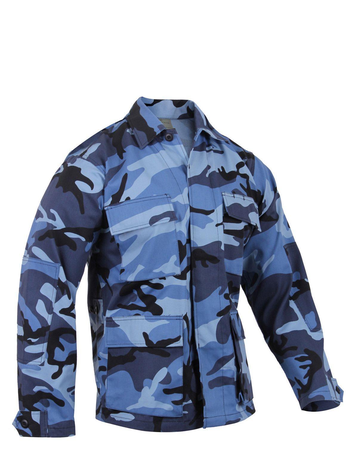 Image of   Rothco BDU Skjorte (Sky Blue Camo, L)