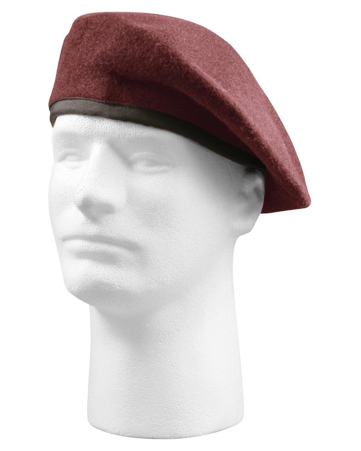 Image of   Rothco Beret - Military Specifications (Maroon, US 7.3/4 / EU 62 cm)