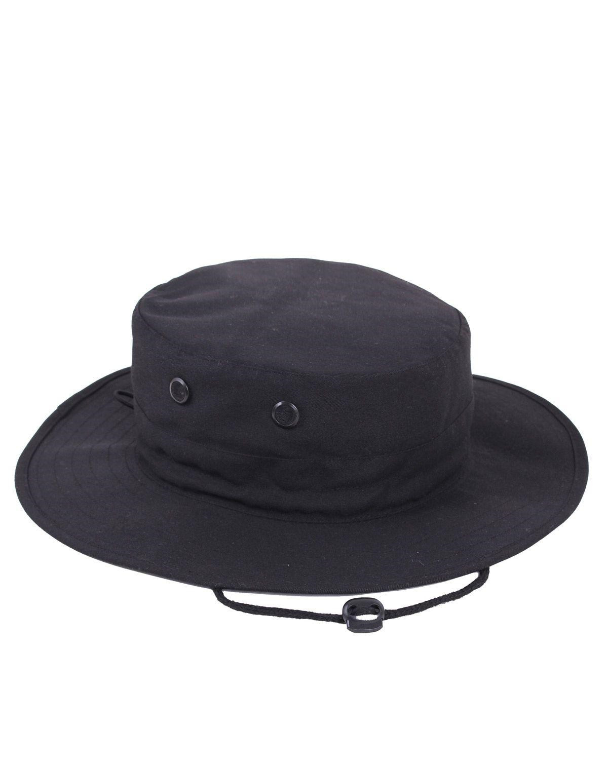 Image of   Rothco Boonie Hat, Justerbar (Sort, One Size)