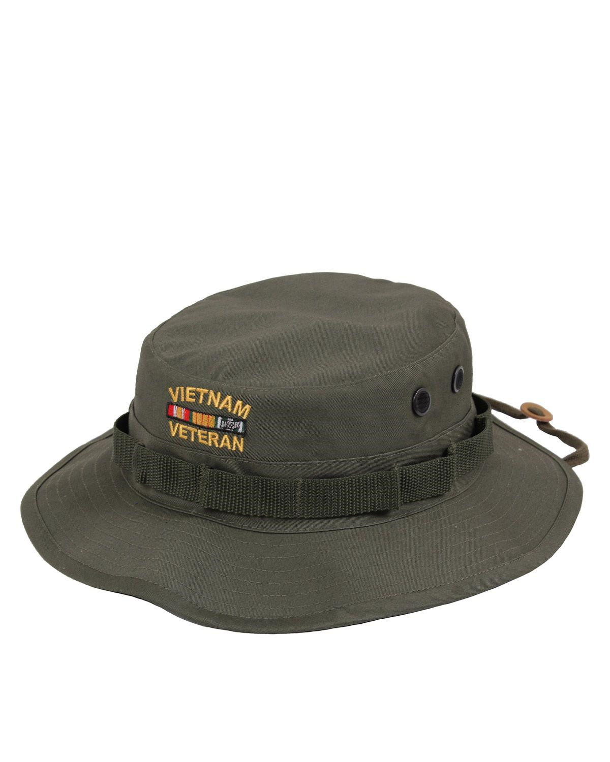 Image of   Rothco Boonie m. Vietnam Veteran-brodering (Oliven, US 7.0 / EU 56 cm)